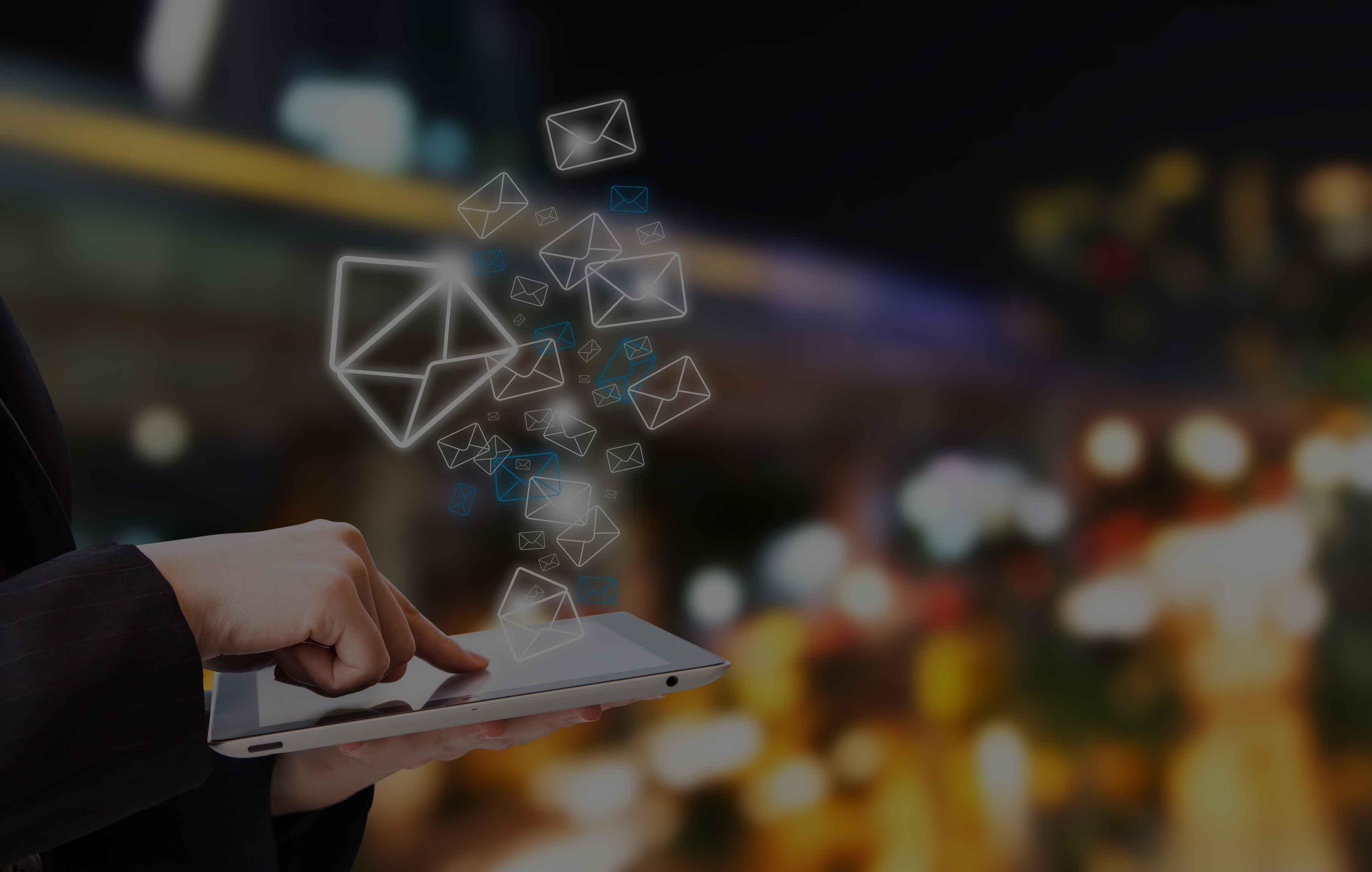Woman-sending-email