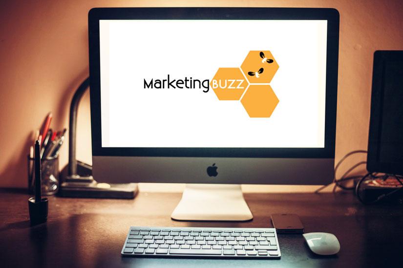 Marketing-Buzz-screen-on-iMac